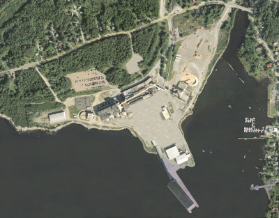Port Mersey aerial photo for contact page